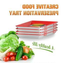 1/2/3/4x Healthy Creative-Food Preservation Tray Storage Con