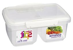 Sistema 1 Litre Polyproplene Split Food Storage Container, M