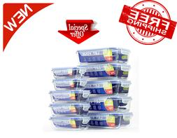 Glass Container with Airtight Lids for Food Storage - Lunch