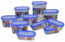10 Pcs Milton Stacko 360 Plastic Canisters Storage Box Airti