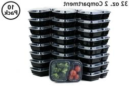 10 Set 32 Oz. Microwavable Food Containers with Lids BPA Fre