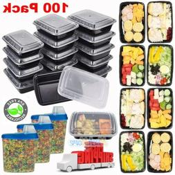 100 Meal Prep Container Plastic Food Storage Reusable Microw