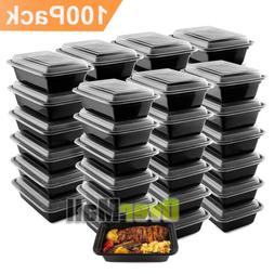 100Pack Meal Prep Containers Reusable Food Storage Disposabl
