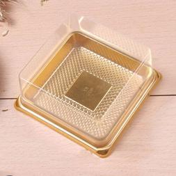 100pcs Food Safe Clear Lid W/ Gold Base On The Go Dessert St