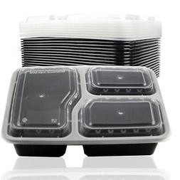 10x Reusable Microwave Safe Stackable Meal Container Plastic