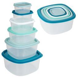 12 PCS Set of Practical Food Storage Unit Container Boxes wi