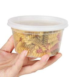 GOLDEN APPLE, 12oz-15sets Plastic Food Storage Containers wi