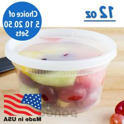 12oz Heavy Duty Small Round Deli Food/Soup Plastic Container