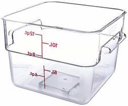 Cambro 12SFSCW 12 Qt. Square Food Storage Container