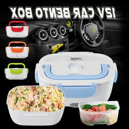 12V 1.2L Portable Car Electric Heating Lunch Box Food Storag
