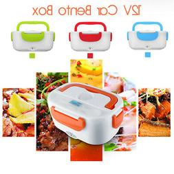 12V Portable Electric Heating Lunch Box Bento Car Food Stora