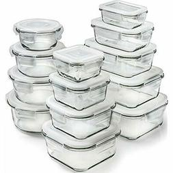 13-Pack Glass Storage Containers Lids Food Airtight Meal Pre