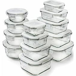 13-Pack Glass Storage Containers With Lids Food Airtight Wit