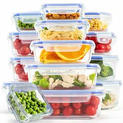 Glass Food Storage Containers with Lids, Meal Prep Lunch Co
