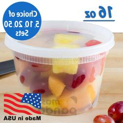 16 oz Heavy Duty Medium Round Deli Food/Soup Plastic Contain