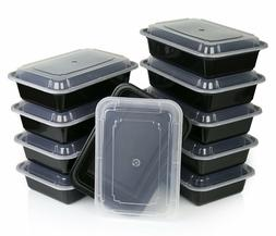 16oz Meal Prep Food Containers with Lids, Reusable Microwava