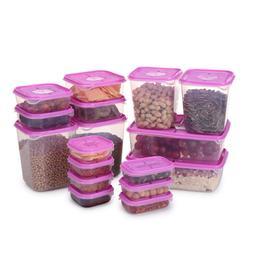 17Pcs Sealed Rectangular Plastic <font><b>Food</b></font> Sa