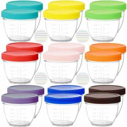 18 Pack Baby Food Storage, 2 Ounce Baby Food Containers with