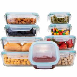 18 Piece Glass Food Storage Containers with Lids, Glass Meal