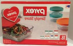 Pyrex 18 Piece Simply Store Food Storage Containers Mixing B