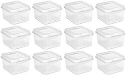 Sterilite 18038612 Small Clear Flip Top Storage Box - Case o