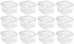 Sterilite 18038612 Small Clear Flip Top Storage Box - Case o