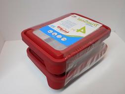 2 Anchor Hocking 6-Cup Rectangular TrueSeal Food Storage Con