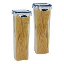 2 Pack Spaghetti Lasagna Pasta Box 6 Cup Tall Square Plastic