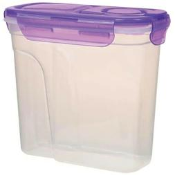 2 Kitchen Dry Food Storage Plastic Containers with Clip Lock
