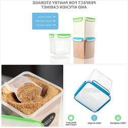 2 Large Airtight Food Storage Containers for Flour, Sugar 14