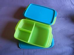 Tupperware 2 Large Lunch it divided containers bento boxes r