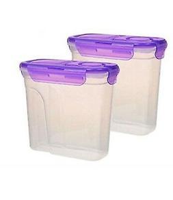 2 Pack Cereal Keeper Dry Food Storage Dispenser Dishwasher S
