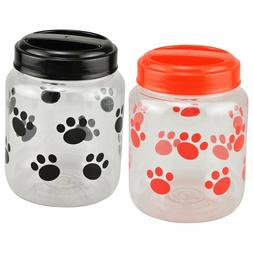 BPA-Free Plastic Airtight Cat and Dog Pet Treat & Food Stora