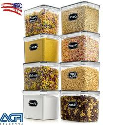 2 pk Cereal and Dry Food Storage Container with Airtight Lid