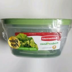 2 Rubbermaid Produce Saver Food Storage Containers 14 Cup &