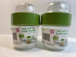 2 Yogurt Granola Milk Cereal Cup Travel Food Storage Snack C