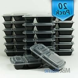 20 pack 32 oz two compartment meal