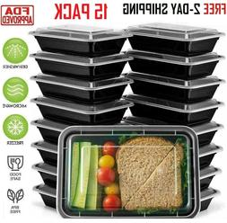 36 Pack Meal Prep Containers Food Storage 1 Compartment Reus