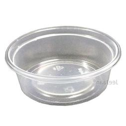 10 PLASTIC CONTAINERS WITH LIDS DISPOSABLE PARTY TABLEWARE F