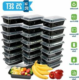 20oz Meal Prep Food Containers with Lids, Reusable Microwava