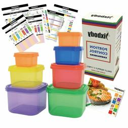 21 Day Diet Portion Control Containers Kit Color-Coded Lunch