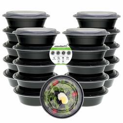 21 Meal Prep Containers Bowl Food Storage 28 oz Plastic Reus