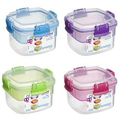 Sistema 21320 Snacks Container, 400ml, Colors Vary -Pack 2