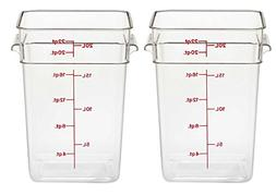 Cambro 22SFSCW135 CamSquare Food Storage Containers, Set of