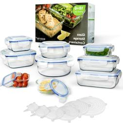 HEALTHY PREP 24-piece  Glass Food Storage Containers Meal Pr