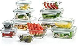 24-Piece Glass Organization  Food Storage  Glass Containers