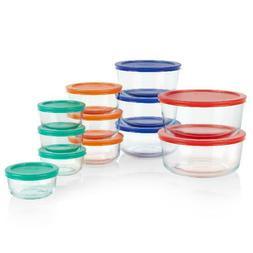 Pyrex 24-Piece Simply Store Round Glass Food Storage Set
