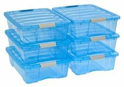 IRIS 26 Quart Stack & Pull Box, 6 Pack