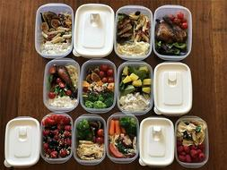 Meal Prep Food Container - Microwave/Dishwasher/Freezer safe