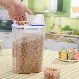 2L Plastic Cereal Dispenser Storage Box Kitchen Food Grain R